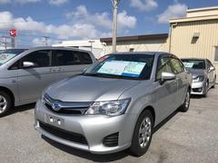 沖縄の中古車 トヨタ カローラアクシオ 車両価格 138万円 リ済別 平成26年 4.9万K シルバー