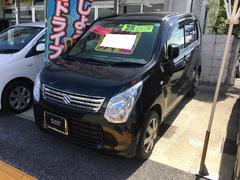 沖縄の中古車 スズキ ワゴンR 車両価格 65万円 リ済込 平成25年 7.4万K ブラック