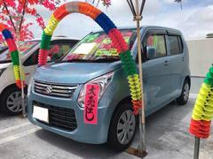 沖縄の中古車 スズキ ワゴンR 車両価格 71万円 リ済込 平成25年 6.2万K フィズブルーパールメタリック