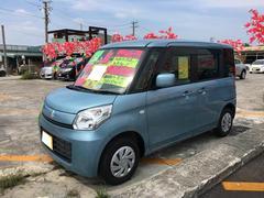 沖縄の中古車 スズキ スペーシア 車両価格 97万円 リ済込 平成27年 1.2万K ライトブルー