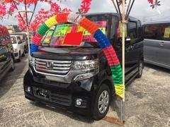 沖縄の中古車 ホンダ N BOXカスタム 車両価格 95万円 リ済込 平成24年 9.1万K クリスタルブラック・パール
