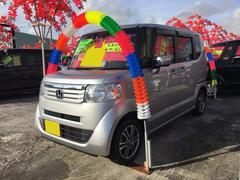沖縄の中古車 ホンダ N BOX 車両価格 101万円 リ済込 平成26年 6.2万K カトラリーシルバーメタリック