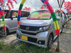 沖縄の中古車 ホンダ N−WGNカスタム 車両価格 103万円 リ済込 平成26年 7.3万K カトラリーシルバーメタリック