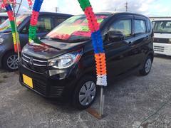 沖縄の中古車 三菱 eKワゴン 車両価格 87万円 リ済込 平成28年 2.1万K ブラックマイカ