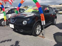 沖縄の中古車 日産 ジューク 車両価格 101万円 リ済込 平成24年 7.1万K サファイアブラック