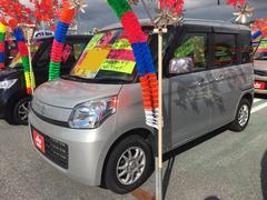 沖縄の中古車 スズキ スペーシア 車両価格 83万円 リ済込 平成26年 4.8万K シルキーシルバーメタリック