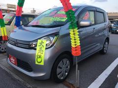 沖縄の中古車 三菱 eKワゴン 車両価格 61万円 リ済込 平成25年 7.2万K クールシルバーメタリック