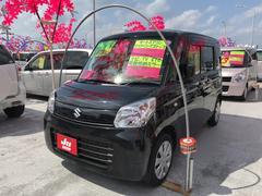 沖縄の中古車 スズキ スペーシア 車両価格 101万円 リ済込 平成27年 6.1万K ブラック