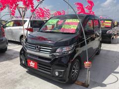 沖縄の中古車 ホンダ N−WGNカスタム 車両価格 101万円 リ済込 平成26年 5.0万K ブラック
