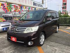 沖縄の中古車 日産 セレナ 車両価格 65万円 リ済込 平成20年 8.4万K パープル