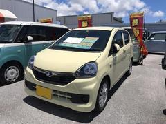 沖縄の中古車 ダイハツ ミライース 車両価格 110万円 リ済別 平成27年 0.4万K アイボリー