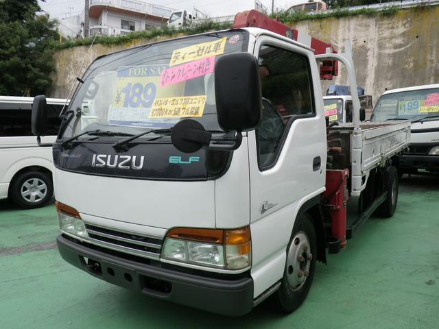 いすゞ エルフトラック 2t 3段クレーン 5速 (車検整備付)