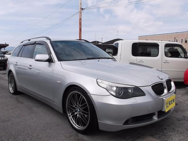 BMW 5シリーズ 525iツーリング HDDナビ 黒革シート H...