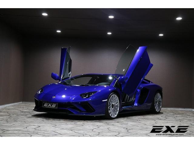 Lamborghini Aventador 2018 Blue 400 Km Details Japanese