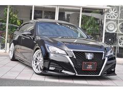 クラウンハイブリッドアスリートG SR 黒革 新品エアロ車高調20インチ