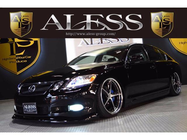 レクサス GS GS350黒革サンルーフ 20インチ 社外エアサス...