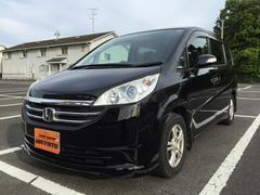 沖縄の中古車 ホンダ ステップワゴン 車両価格 81.8万円 リ済別 平成20年 7.9万K ブラックM