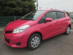 沖縄の中古車 トヨタ ヴィッツ 車両価格 64.8万円 リ済別 平成23年 2.4万K ピンクM