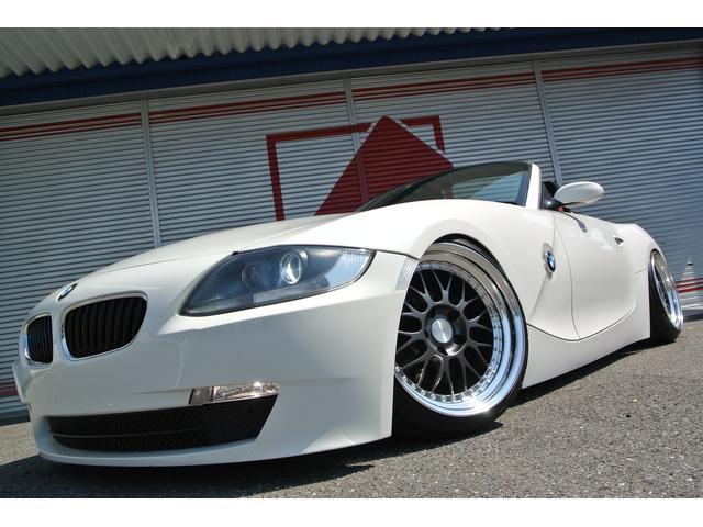 BMW Z4 ロードスター2.5i 赤革HDDナビ車高調18インチ...