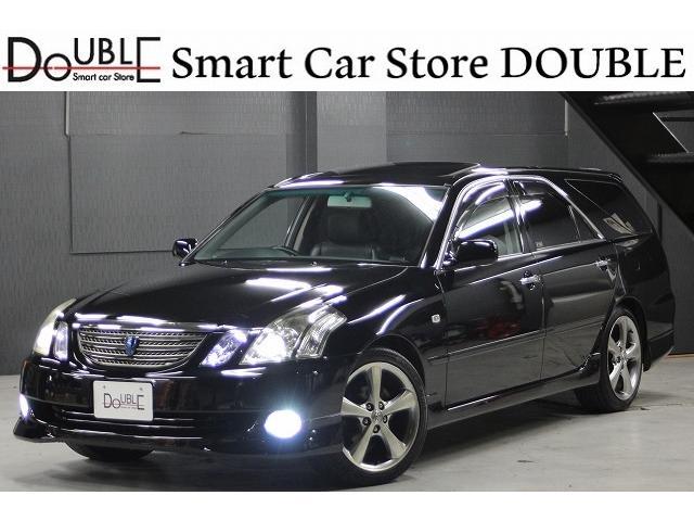 トヨタ 2.5iR-S黒革xサンルーフx新品エアロxマルチx18AW