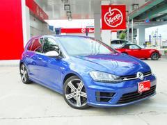VW ゴルフR黒革シート 純正SDナビ TV