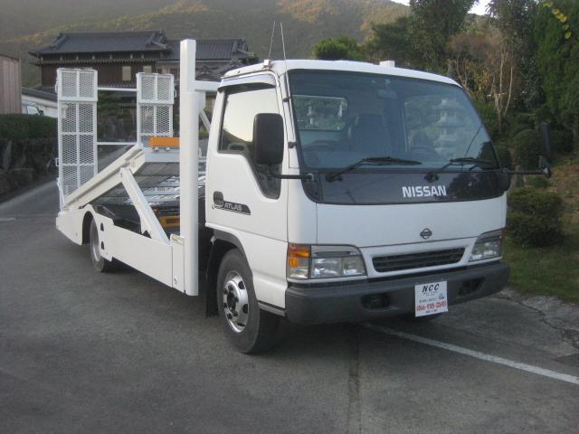 日産 2台積キャリアカー3000kg積載車ラジコン付花見台