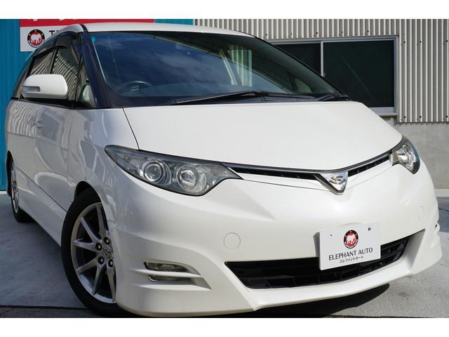 トヨタ アエラス Sパッケージ 両側電動フリップM純ナビBカメ車高調