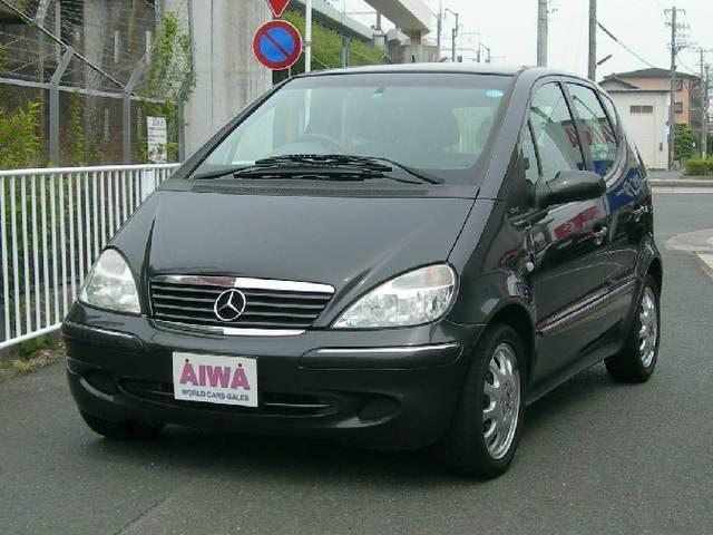 mercedes benz a class a160 elegance 2003 black m 68 000 km details japanese used cars. Black Bedroom Furniture Sets. Home Design Ideas