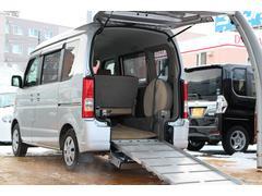 エブリイワゴン車椅子固定装置付スロープタイプ4WD電動ウインチ夏冬タイヤ付