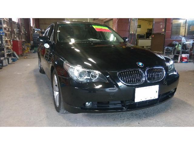 BMW 5シリーズ 525i黒革ナビ HID LEDランプ ナビ ...
