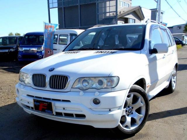 BMW X5 4WD 4.4i 黒革 22AW 社外ヘッドライト ...