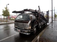 エルフトラック3台積 キャリアカー 搬送車 積載車 ウインチ 中型免許OK