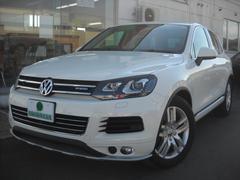 VW トゥアレグハイブリッド ブラックレザー 純正HDDナビTV 4WD