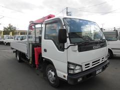 エルフトラック4WD 4段クレーンワイドロング 積載3500