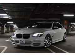BMW750Li左HWALDコンプリート黒革SR後席モニター保証付