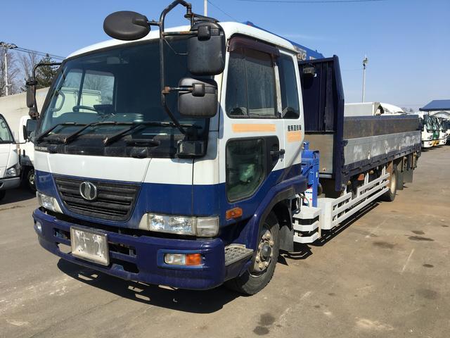 UDトラックス 増t ワイド 4段クレーン パワーゲート付 6.5mボデー長