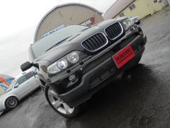 BMW X53.0i 4WD 黒革シート 純正19アルミ 社外ナビ