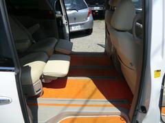 エスティマハイブリッドG 4WD オレンジフロアマット ホワイトシートカバー