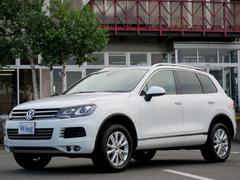 VW トゥアレグV6 BMT UPグレードPKG 禁煙 ACC 黒革 純ナビ