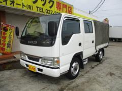 エルフトラック1.25t Wキャブ 幌付 4WD オートマ車