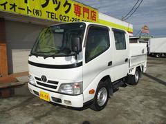 ダイナトラック0.75t Wキャブ 全低床 垂直ゲート 4WD AT車