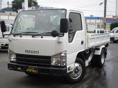エルフトラックフルフラットロー三転強化ダンプ 積載2t 排ガス規制適応