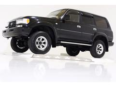ランドクルーザー80VXリミテッド 4WD リフトUP 黒レザー調シートカバー