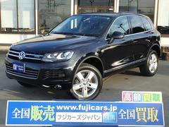 VW トゥアレグハイブリッド HDDナビ 黒革 全方位カメラ