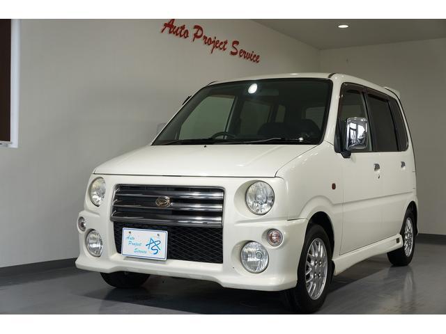エアロがかっこいいパールホワイトのムーブです。現状販売車・エアバック・ABS・キーレス・HIDヘッドライト