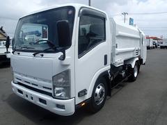 エルフトラック0631 3.05t新明和製パッカー車  巻込式5.8立米