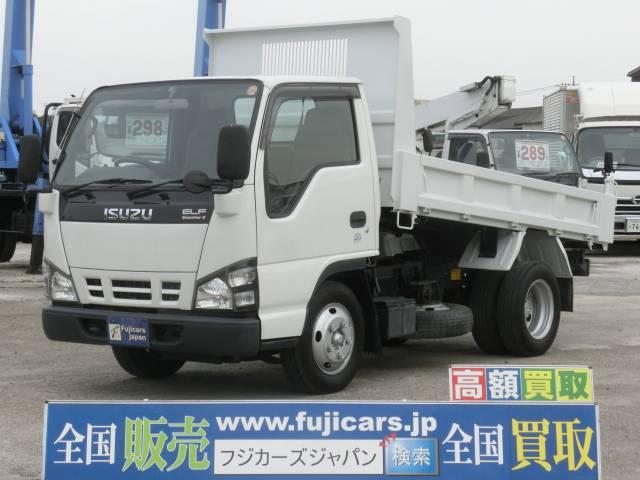 いすゞ エルフトラック 強化フルフラットローダンプ 積載2t スム...