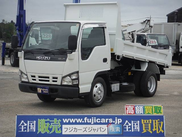 いすゞ エルフトラック 全低床強化ダンプ 積載2t 極東開発 5速...