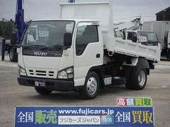 エルフトラック全低床強化ダンプ 積載2t 極東開発 5速マニュアル 3人乗