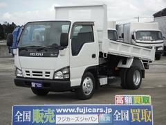 いすゞ エルフトラック 4.8D積載2t強化フルフラットローダンプ新明和 4.8L